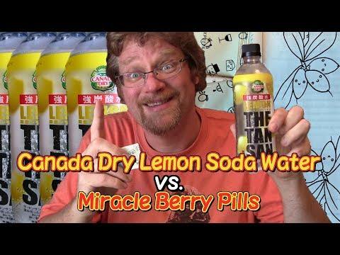 Canada Dry Lemon Soda Water vs. Miracle Berry Pills
