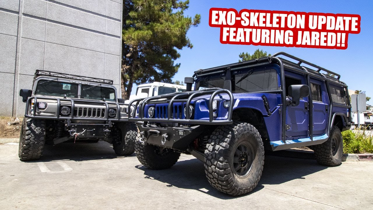 EXO-SKELETON H1 HUMMER UPDATE FEATURING JARED!!