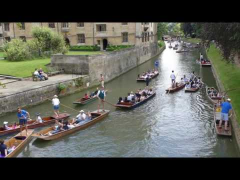 Punting on the Cam Through Cambridge