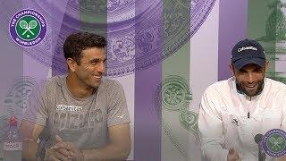 Juan Sebastian Cabal and Robert Farah Winners' Press Conference Wimbledon 2019