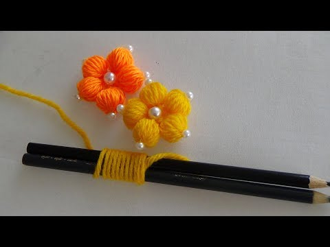 Hand Embroidery: Making Flowers With Simple Trick (PART 1) thumbnail