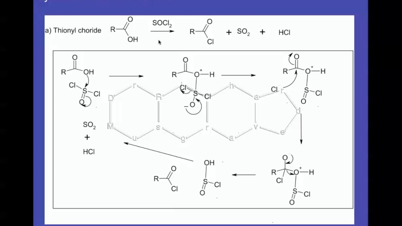 Synthesis of Acid Chlorides - YouTube