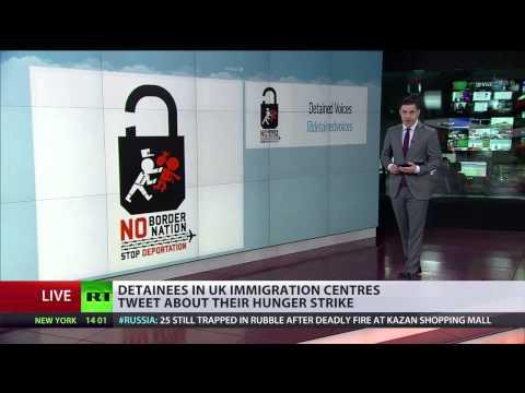 Massive hunger strike in UK immigration detention center, inmates live tweet