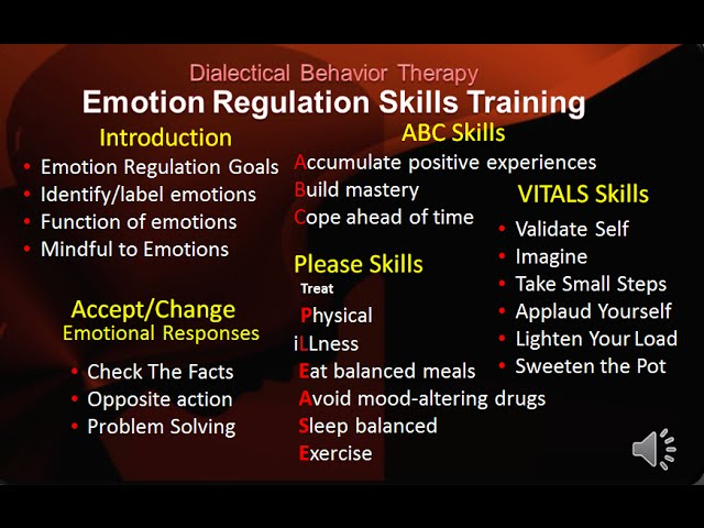 Introduction to DBT Emotion Regulation Skills | DBT Peer Connections