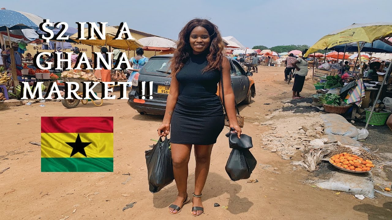 WHAT $2 CAN GET YOU IN A GHANA MARKET | LIVE IN GHANA ON A BUDGET | REDUCE COST OF LIVING IN GHANA