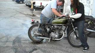 Dirtbag CB450 burnout