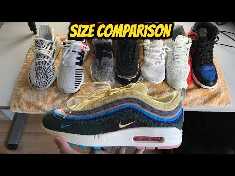 SEAN WOTHERSPOON AIR MAX 1/97 SIZE GUIDE *SIZE COMPARISON*