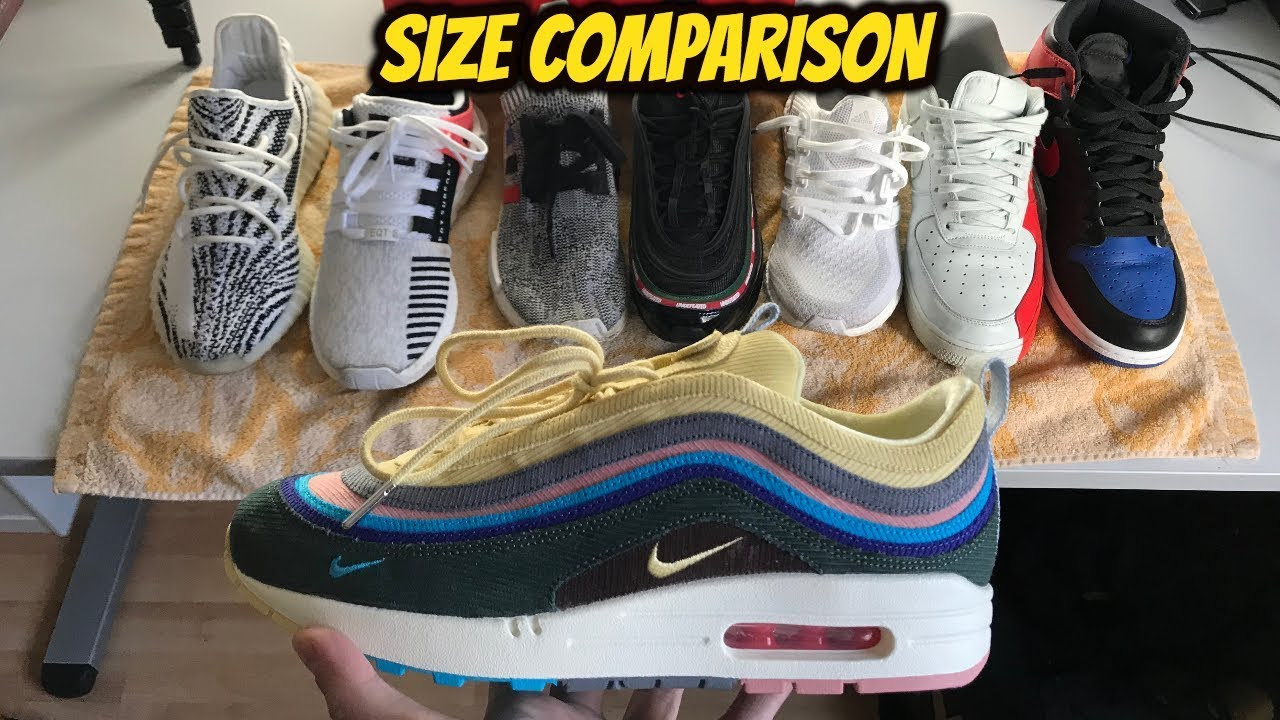 e17c04bd0dfcc SEAN WOTHERSPOON AIR MAX 1/97 SIZE GUIDE *SIZE COMPARISON* - YouTube
