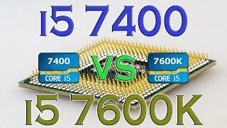i5 7400 vs i5 7600k benchmarks gaming tests review and comparison kaby lake vs kaby lake