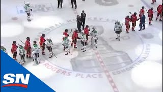 Dallas Stars Meet Calgary Flames For Handshakes To Mark End Of Hard-Fought Series
