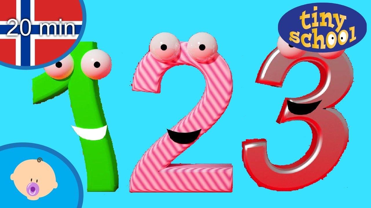 Lære tall og telling for småbarn - Min første rekke bøker og flere bildebøker  Tinyschool Norsk