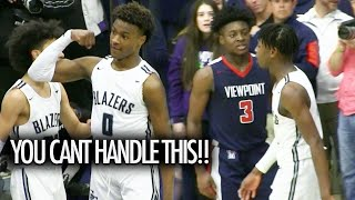 Bronny James CAN'T BE STOPPED! Zaire Wade Has His Best Game For Sierra Canyon