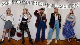 Thrifted Aesthetic Outfits fŗom Tik Tok || How to put together aesthetic outfits from thrifted items