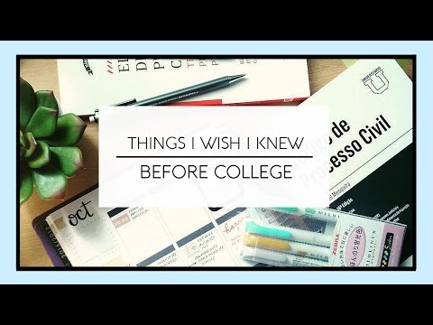 Things I Wish I Knew Before College/Law School