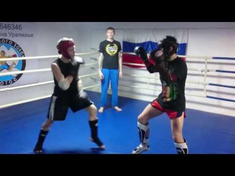 Спарринг по тайскому боксу в клубе Лотос: Дмитриев Дмитрий - Карпенко Давид