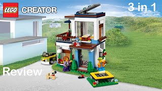 Lego Creator 31068 Set Review - Modular Modern Home all 3 builds