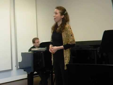 Sängerin Gundula Braum aus Mainz singt von Georg Friedrich ...