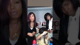 #BlackGirlLongHair Braid Set Demo On #SilkPress w #LoveInaJar!!!