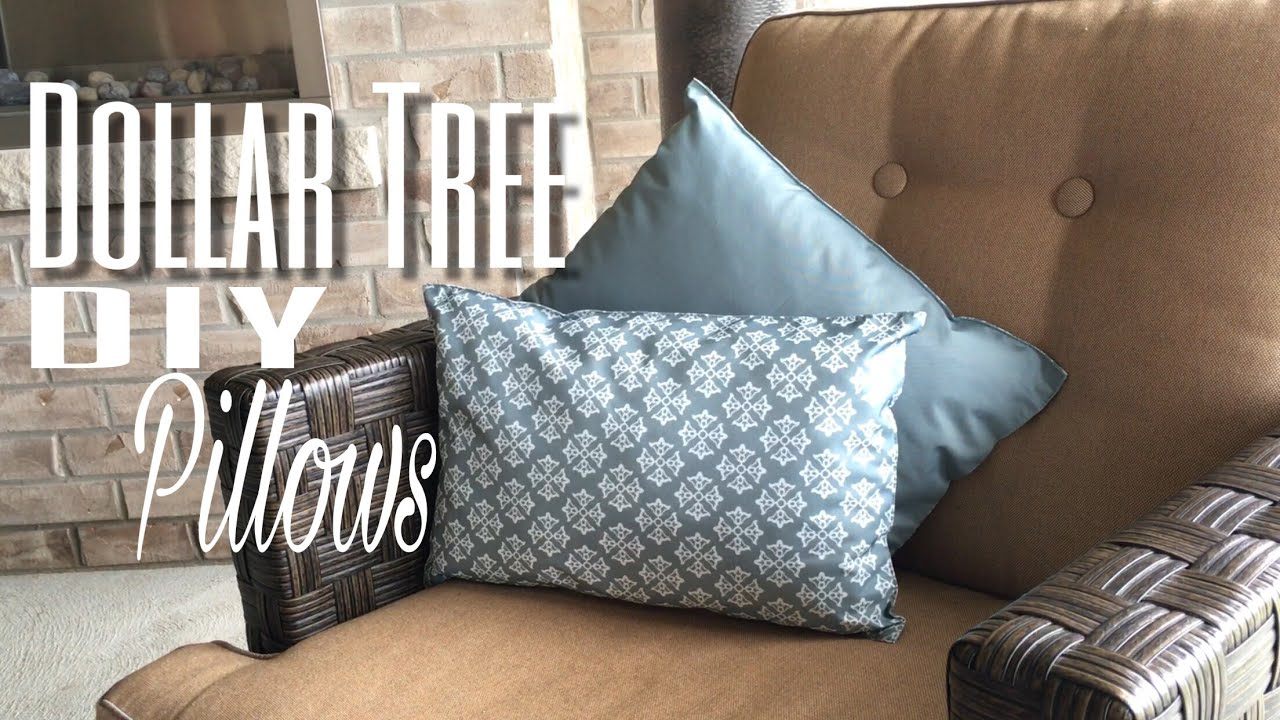 How To Make No Sew Pillows Dollar Tree Diy Youtube