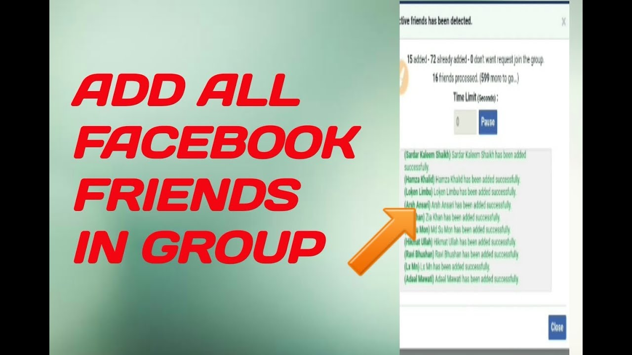 How to Add All Friends to Facebook Group in One Click 2019