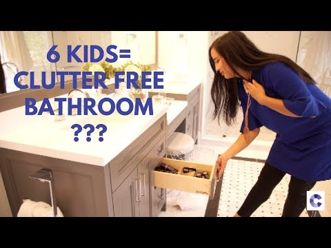 DESIGN: How to create a clutter free bathroom