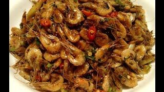 Spicy Stir Fry Baby Shrimp