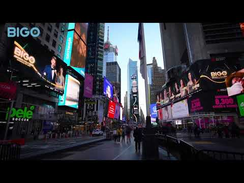 BIGO TOP Broadcasters On Times Square Billboards   BIGO LIVE   BIGO AWARDS GALA 2021