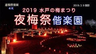 2019.3.9撮影. 水戸の梅まつり・夜梅祭 偕楽園会場 4K