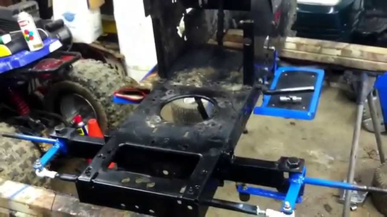 Racing Lawn Mower Parts : Racing mower front end finished parts youtube