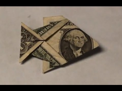 dollar bill origami fish tutorial how to make an easy