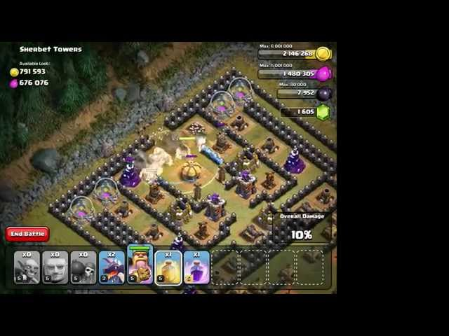 Clash of Clans - Goblins level 50 - Sherbet Towers