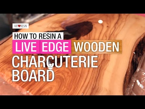 How To Resin A Live Edge Wood Board - Part 1
