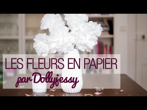 faire des fleurs en papier diy d co de mariage avec dollyjessy youtube. Black Bedroom Furniture Sets. Home Design Ideas