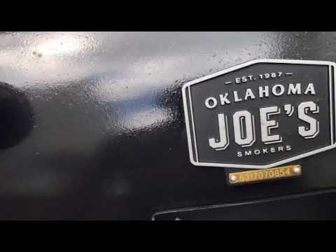 Seasoning My Oklahoma Joe Offset Smoker