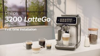 Philips Series 3200 LatteGo EP3246/70 Automatic Coffee Machine - How to Install and Use