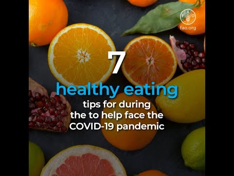 7 healthy eating tips to face the COVID19 crisis