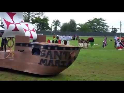 Trinidad and Tobago Coast Guard March Past 2016 (TTDF Sports)
