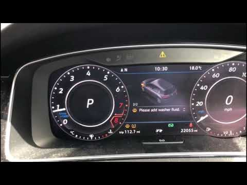 How To Reset Tyre Pressure warning - VW GOLF R mark 7 4K