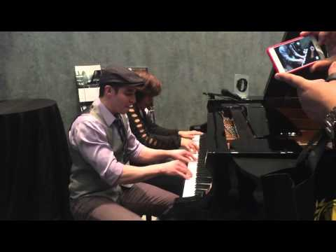 Boogie piano four hands Amazing performance