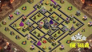 How to 3-star popular internet base in clash of clans [The Tailor] - Best method!!