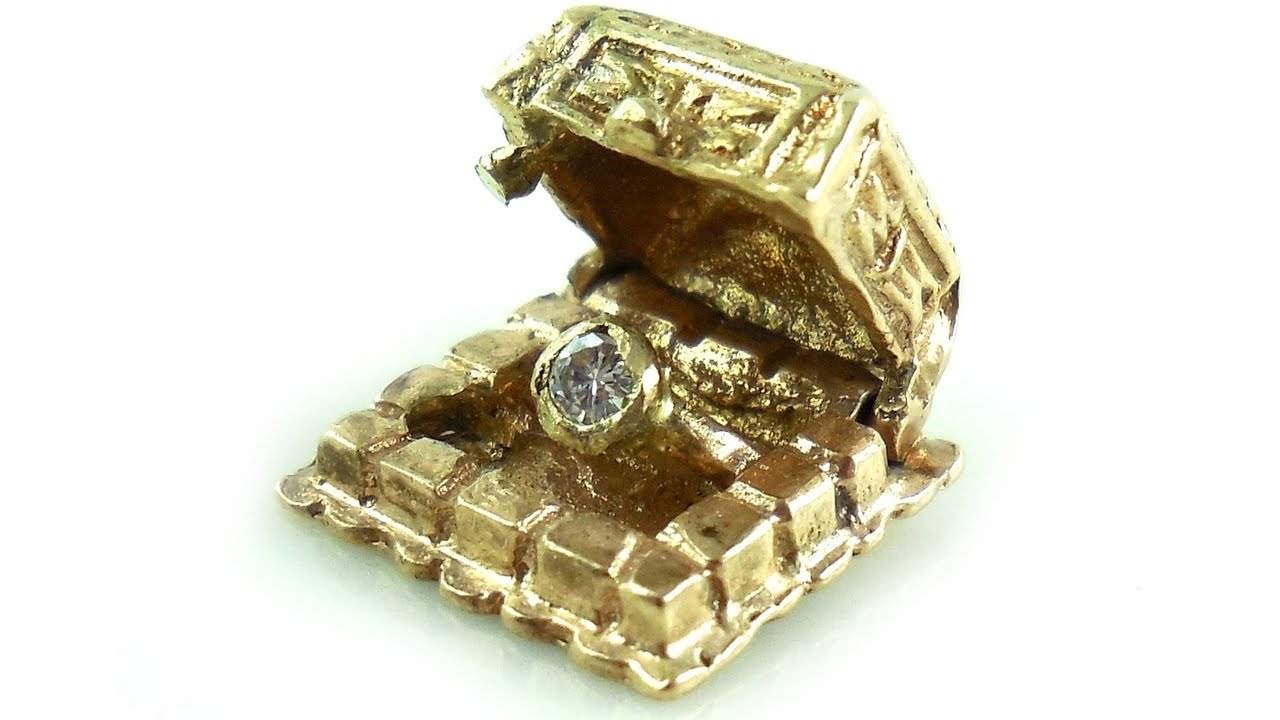 Vintage 14k Gold And Diamond Ring In Movable Jewelry Box Charm YouTube