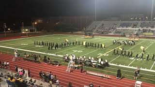 Shawnee Mission West Marching Band - first performance of 2019!