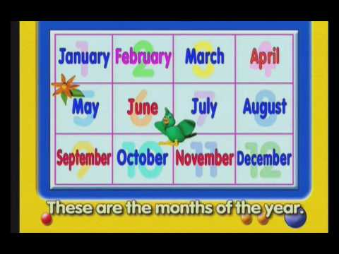 Number Names Worksheets month spelling in english : English Time Songs, Months of the Year - YouTube