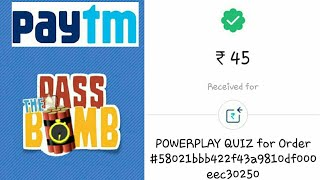 Pass the Bomb game from Paytm. Paytm new cash game