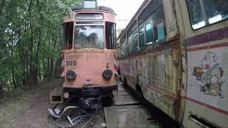 Abandoned trams (Trolley Graveyard) Germany September 2019 with Gopro Hero5