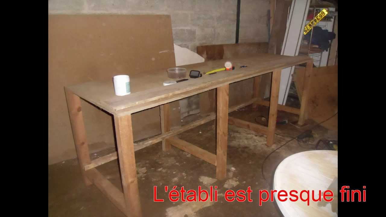 Atelier fabrication d 39 un tabli youtube - Fabriquer un etabli en fer ...