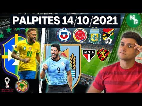PALPITES DE FUTEBOL PARA O DIA 14 10 2021 + BILHETE PRONTO (QUINTOU NO MUNDO BET)