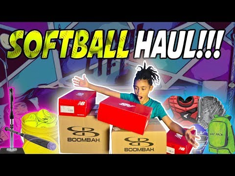 SURPRISE Softball Haul!!! What's Inside??? 🤩 (New Softball Gear And Equipment!)