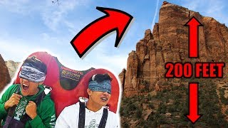 Blindfolded SURPRISE Drop off 200 Ft. CLIFF!