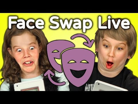 KIDS REACT TO FACE SWAP CHALLENGE